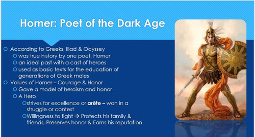 Ch 4.1 The Ancient Greeks - Poets and Heroes