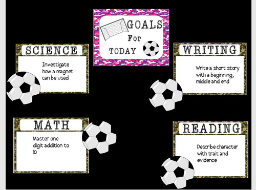 Camouflage Collection: Bulletin Board/Goal setting