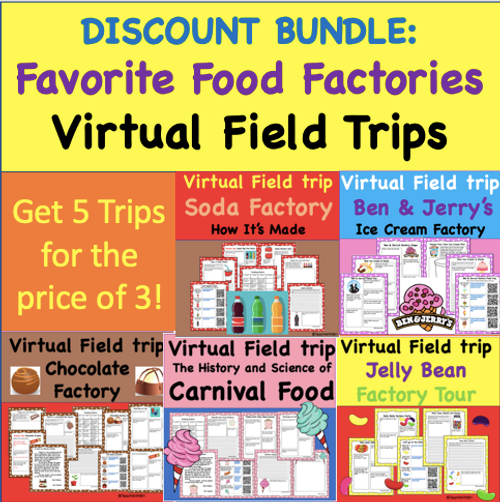 Discount Bundle- Favorite Food Factories Virtual Field Trip Pack
