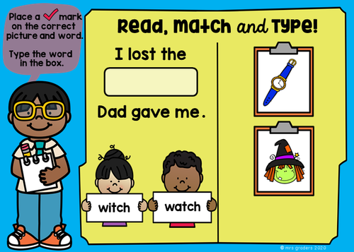 Perfect for Comprehension, Word Word Activities