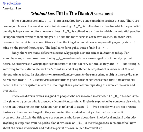American Law: Criminal Law: UNIT STUDY GUIDE