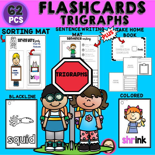 Trigraphs Beginning and Ending Flashcards Cover