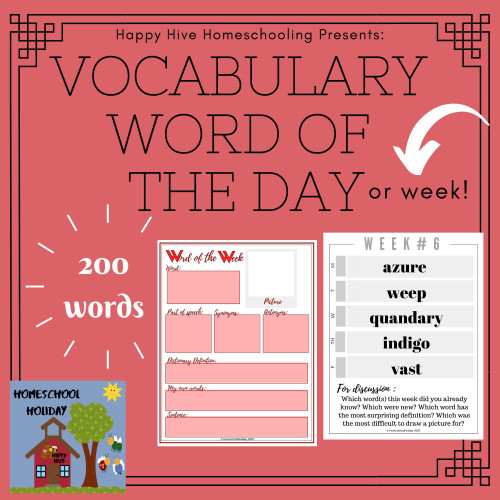 Vocabulary Word of the Day/ Week