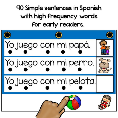 BOOM Cards Read and comprehend in Spanish-Lee y comprende oraciones sencillas