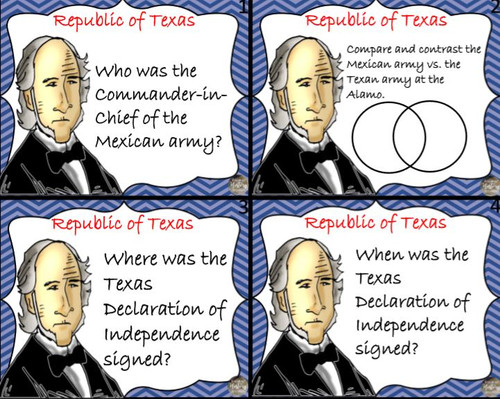 Republic of Texas Bundle for Interactive Notebooks