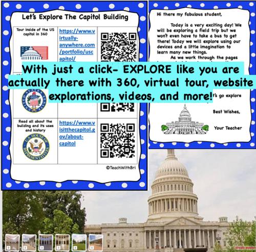 Capitol Building Washington DC  Virtual Field Trip