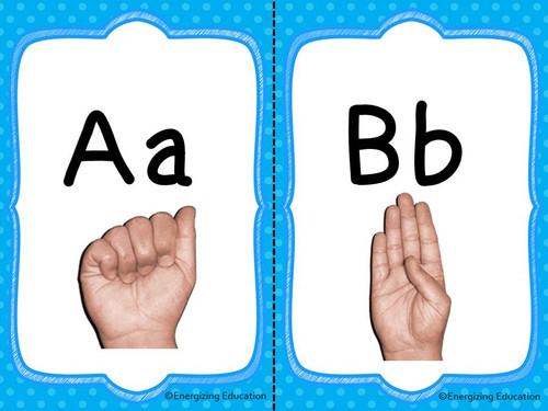 ASL American Sign Language Alphabet Cards