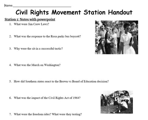 US Civil Rights Station Lesson