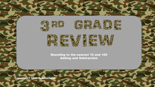 Math Review Game 3rd Grade #1