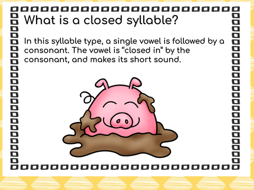 Syllable Types: Open & Closed Syllables Distance Learning Activities
