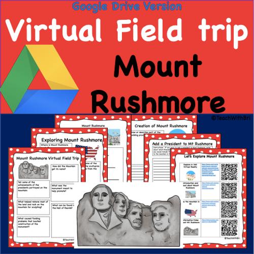 Google Drive Version- Mount Rushmore Virtual Field Trip Student Activities