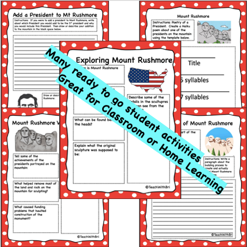 Google Drive Version- Mount Rushmore Virtual Field Trip Student Activities