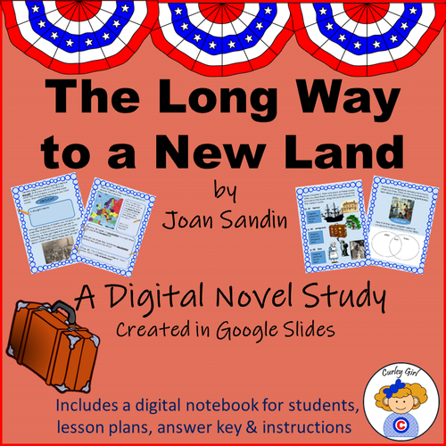 The Long Way to a New Land Digital Novel Study in Google Slides