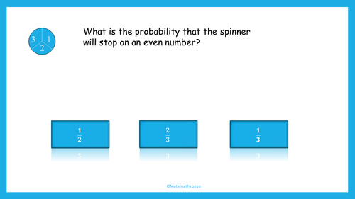 Distance Learning Math Probability Online Lesson Interactive