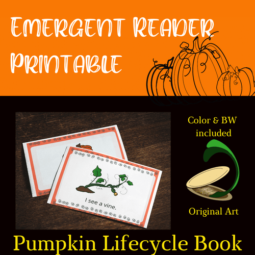 "Emergent Reader ""I See a Pumpkin"" Kindergarten High Frequency Words Lifecycle"