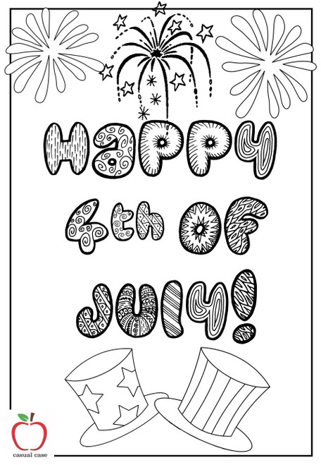 4th of July Craft Booklet