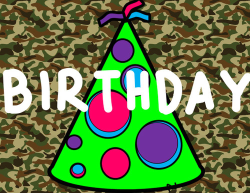 Camouflage Collection: Birthday Banner