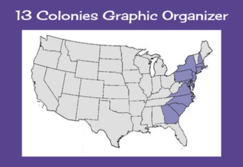 13 Colonies Graphic Organizer