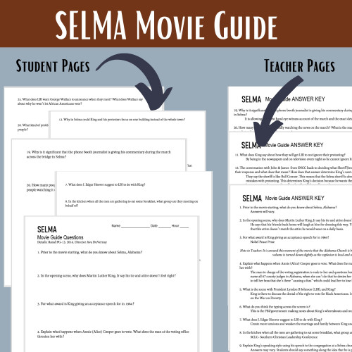 Selma (2014) Movie Guide with Primary Source Analysis