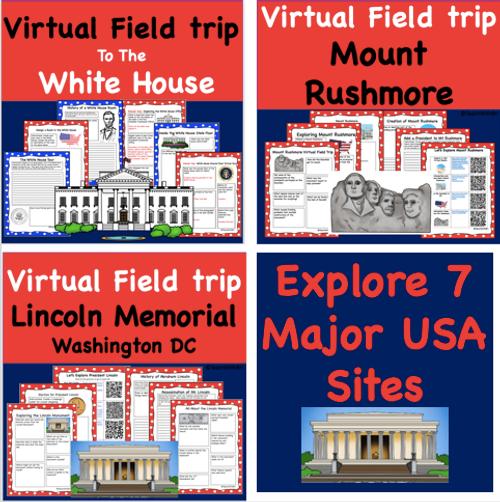Discount Bundle- USA Famous Sites- Virtual Field Trip Pack