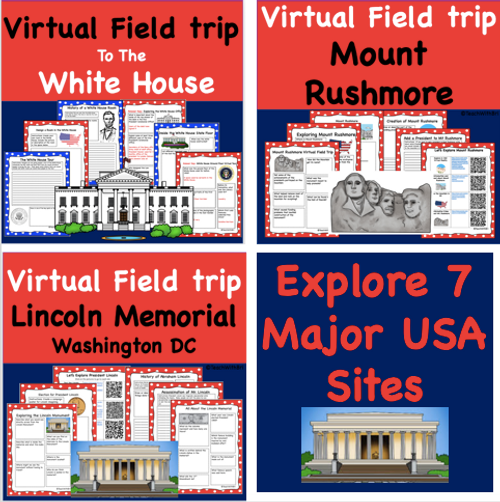 Digital Versions- Discount Bundle- USA Famous Sites- Virtual Field Trip Pack