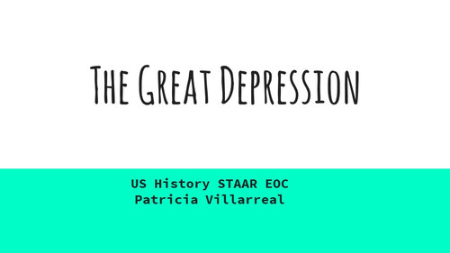 Great Depression EOC Review