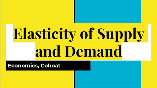 Supply and Demand Unit  High School Economics