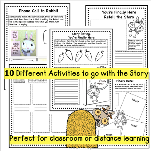 Virtual Read-A-Loud- You're Finally Here- Student Reading Activities for Beginning of School Year