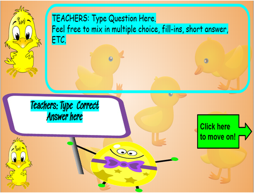 Easter Virtual Board Game on Google Slides! FOR ANY SUBJECT!