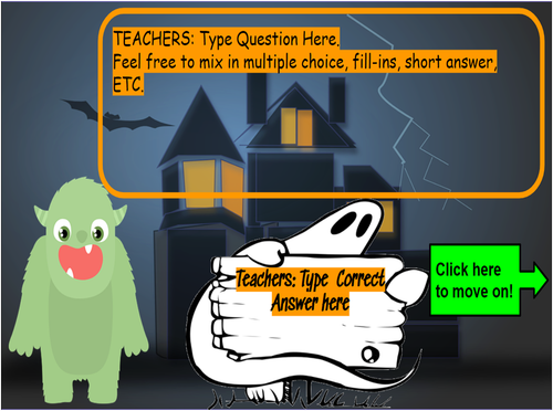 Halloween Virtual Board Game on Google Slides! FOR ANY SUBJECT!