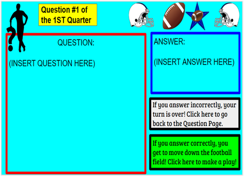 Football Interactive Review Game--For ANY subject!