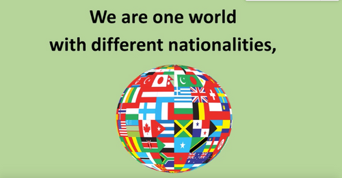 'ONE WORLD' (Grades K-7) ~ Curriculum Song Video