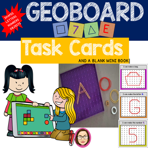 Geoboard Task Cards cover