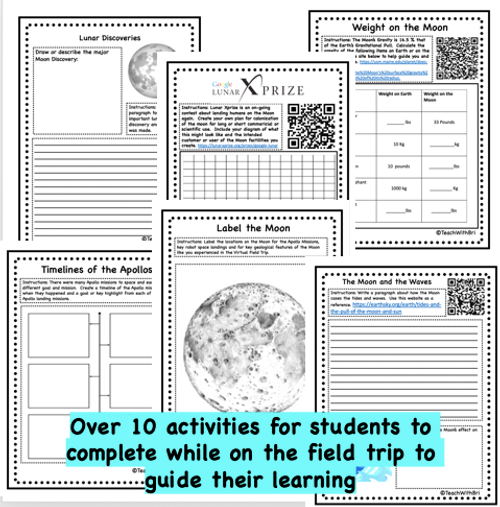 Virtual Field Trip to the Moon -360 Activities for Middle and High Schoolers