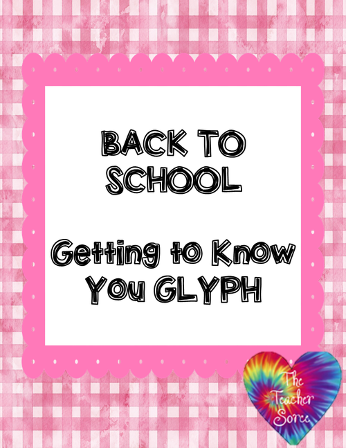 Back To School: Getting to Know Me Glyph - FREE