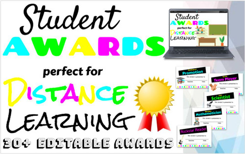 EDITABLE Virtual Awards Ceremony + End of the Year (PPT)