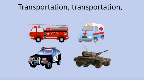 'TRANSPORTATION' (Grades K-3) ~ Curriculum Song Video