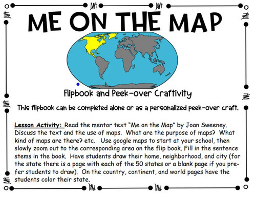 Me on the Map: Flap-book and Peek-over Craftivity
