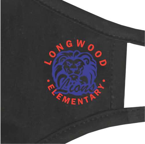 """Longwood Elementary"" Custom Face Mask"