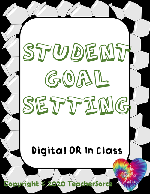 Student Goal Setting Packet and Bulletin Board