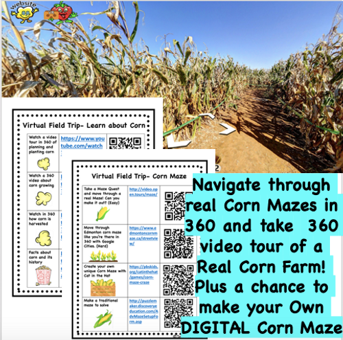 Virtual Field Trip to the Corn Maze and Corn Farm