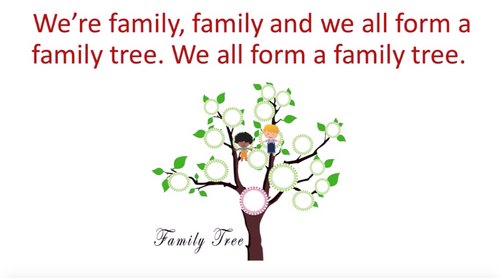 'FAMILY TREE' (Grades Pre K-3) ~ Curriculum Song Video