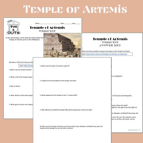 Temple of Artemis WebQuest (Google Compatible)