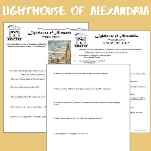 Lighthouse of Alexandria WebQuest (Google Compatible)