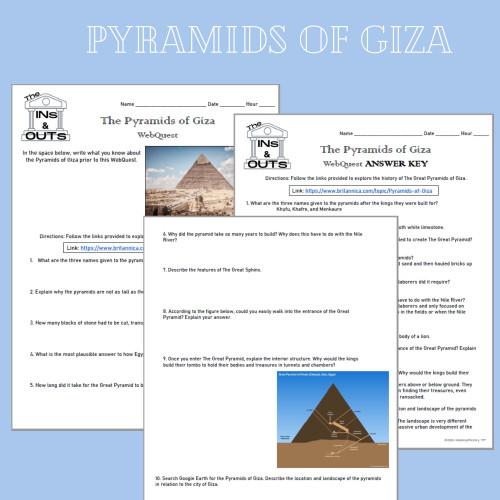 Pyramids of Giza WebQuest (Google Compatible)