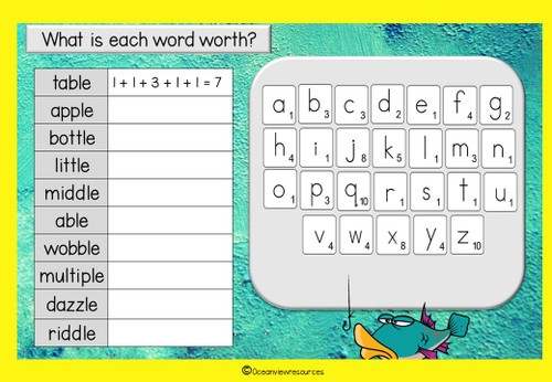 Spelling Term 1 Grade 2