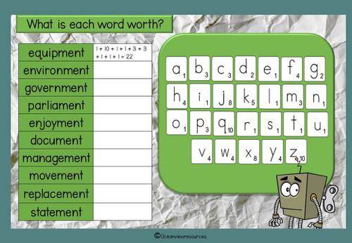 Spelling Term 1 Grade 5