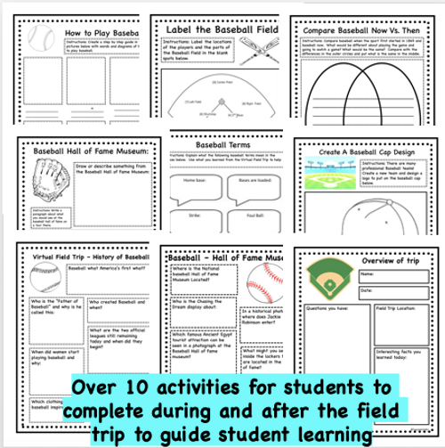 Virtual Field Trip to the Baseball Stadium- History and About the Game- Distance PE Lesson