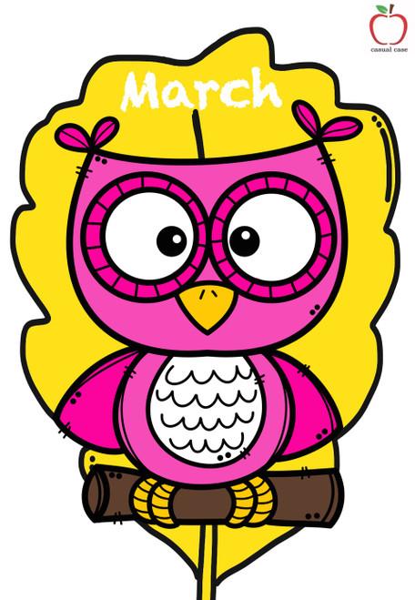 Classroom Birthday Chart - Owl Theme