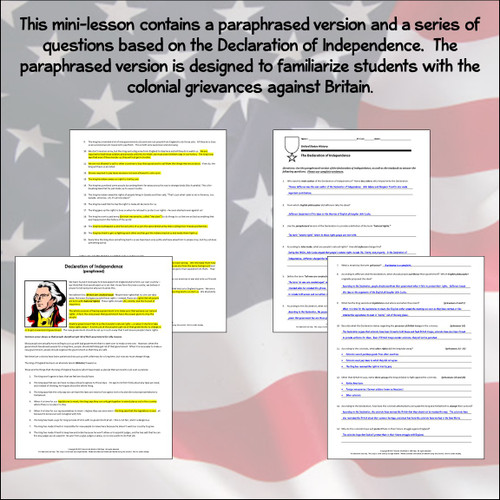Bundled Mini-Lesson: The Declaration of Independence